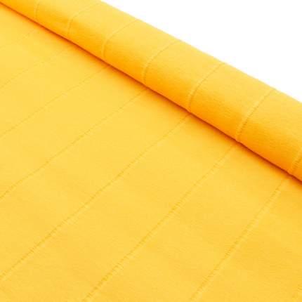 Бумага гофрированная простая, 50см*2,5м 140гр 976 светло-оранжевая