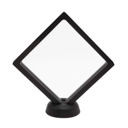 Коробочка с прозрачным эластичным окном черная 11*11см c подставкой Астра AR1508