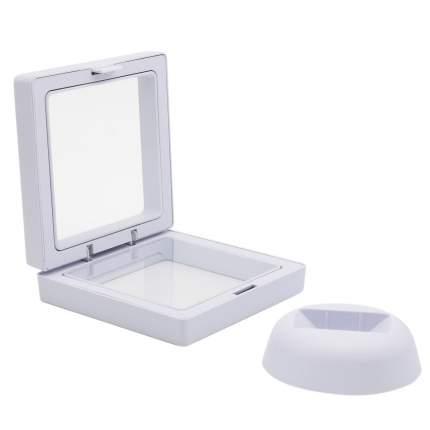 Коробочка с прозрачным эластичным окном белая 11*11см c подставкой Астра AR1508-2