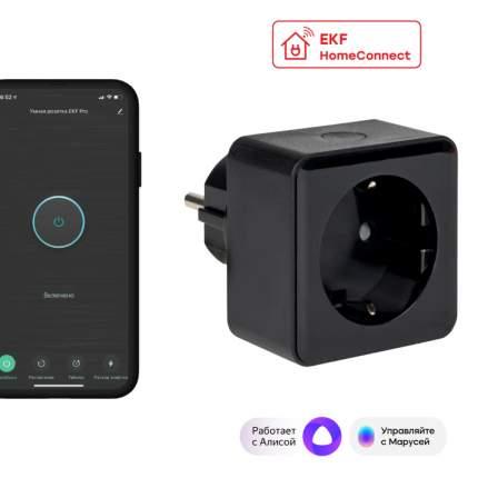 Умная розетка EKF Сonnect PRO Wi-Fi черная RCS-2-WF