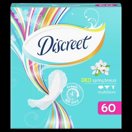 Прокладки Discreet ежедневные Deo Spring Breeze Multiform Trio 60шт
