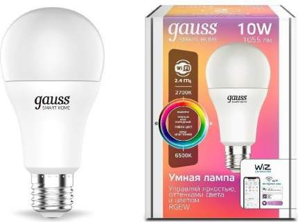 Умная Wi-Fi лампочка Gauss Smart Home А60 10W 1055лм E27