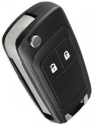 Ключ Chevrolet Cruze Epica Camaro Impala Aveo , 2 кнопки (корпус с лезвием). Tesland