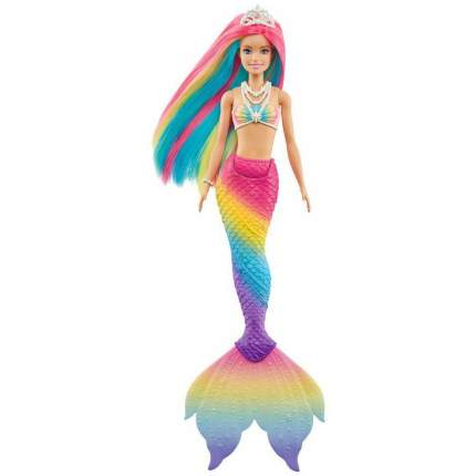Кукла Mattel Barbie, русалочка меняющая цвет, с разноцветными волосами