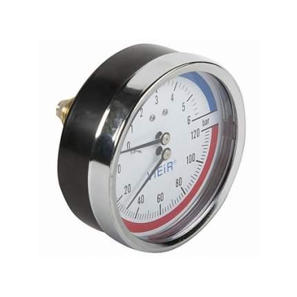 """Термоманометр ViEiR 1/2"""", горизонтальный (80 мм/10 бар) (YF10)"""