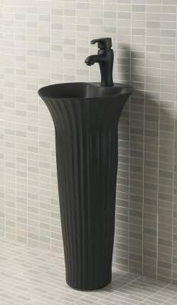 Керамическая напольная раковина GiD Nb132bg черный графит