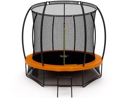 Батут Триумф Норд премиальный 305 см двухцветный серый/оранжевый с лестницей