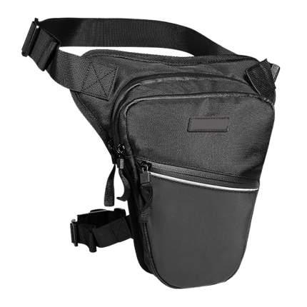 Поясная путевая сумка BroBobber для мотоциклиста, цвет черный, 26x26x6 см, BR-BAG-01