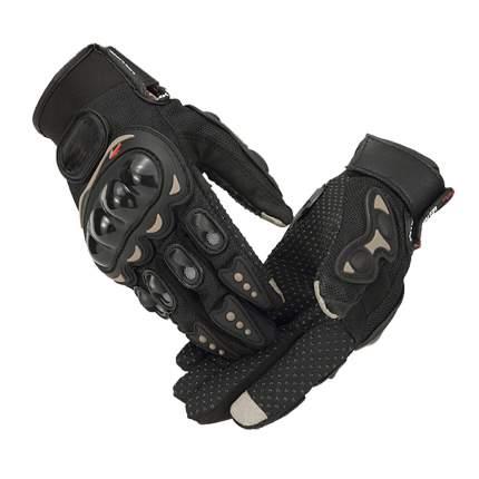 Мотоперчатки противоскользящие, цвет черный, размер L, BroBobber BR-GLV-04-L