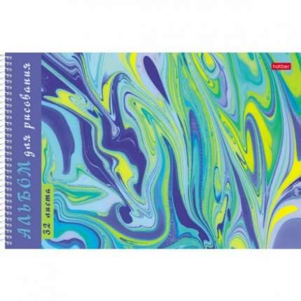 Альбом для рисования. Hatber 32 листа А4 На спирали 5 дизайнов Серия Эбру Воздушные облака