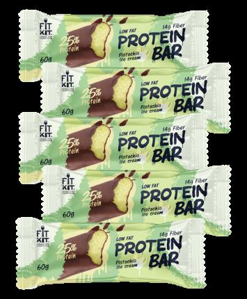 Fit Kit Protein BAR, 5шт по 60г (Фисташковое мороженое)