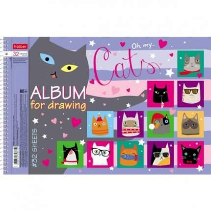 Альбом для рисования. Hatber. 32 листа. А4. На спирали. Серия CATs