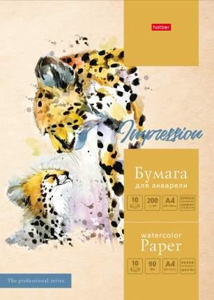 Набор бумаги для рисования. Hatber. 10 листов. А4. В папке. Тиснение. Мамина любовь