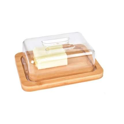 """Масленка-сырница бамбуковая """"Termico"""", 20x15x7,5 см."""