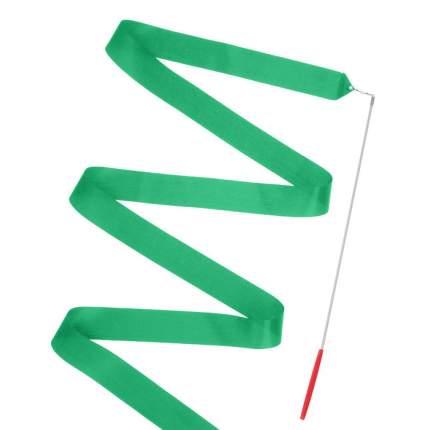 Гимнастическая лента Sima-land 2788887 с палочкой 46 см, 4 м, зеленая
