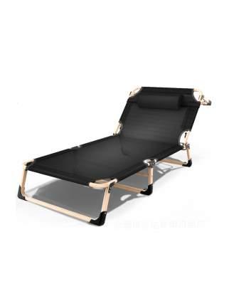 Раскладушка с подушкой URM, 194х68х30 см, черная