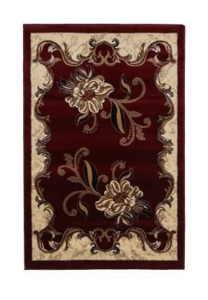 Ковер ворсовый ORHIDEA бордовый бежевый 100х150 арт. УК-1041-03 Kamalak tekstil
