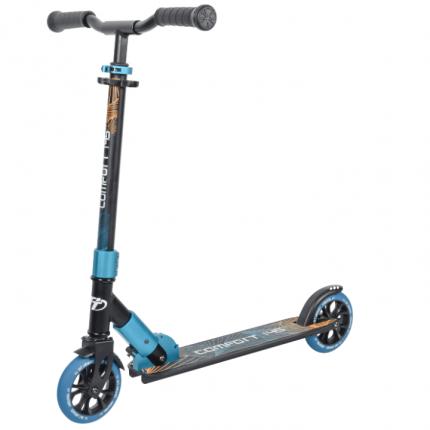 Самокат Tech Team Comfort 145R 2021 черно-синий с колесами 145мм