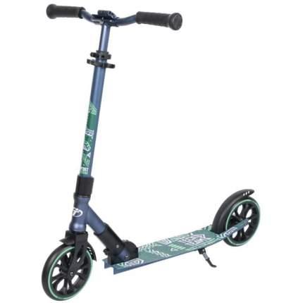 Самокат Tech Team Comfort 180R 2021 черно-синий с колесами 180мм