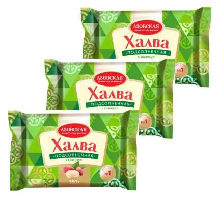 Азовская кондитерская фабрика халва подсолнечная с арахисом 3шт х 350г