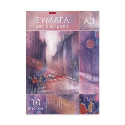 Бумага для акварели в папке ErichKrause® City Jazz, А3, 10 листов