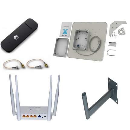 Усилитель интернет сигнала Антэкс 3372 с антенной ZETA MIMO ВОХ 2x20 dbi