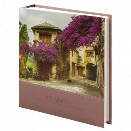 """Фотоальбом BRAUBERG """"Цветущая улица"""" на 200 фото 10х15 см, твердая обложка, 391163"""