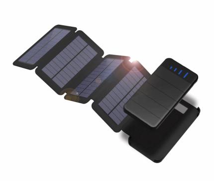 Съемный внешний аккумулятор с солнечной панелью 10000 мАч,\2277