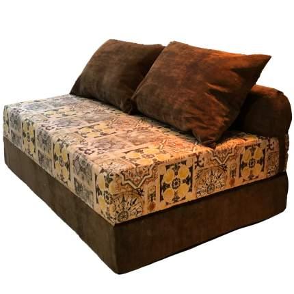 Бескаркасный диван DreamBag PuzzleBag XL, микровельвет, Сиена Коричневый