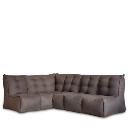 Бескаркасный модульный диван DreamBag Shape +3 one size, рогожка, Коричневый
