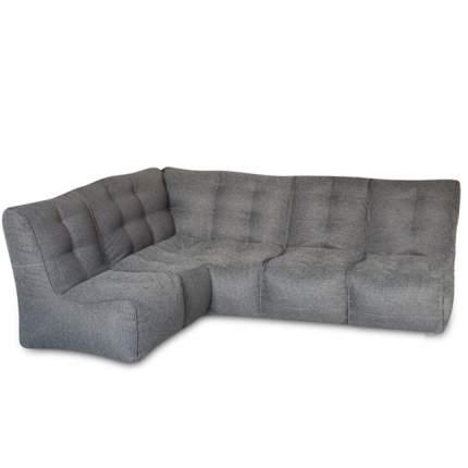 Бескаркасный модульный диван DreamBag Shape +3 one size, рогожка, Серый