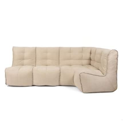 Бескаркасный модульный диван GoodPoof Мод L-II one size, велюр, Natural Linen