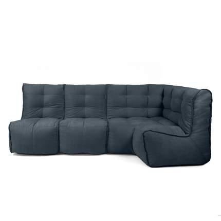 Бескаркасный модульный диван GoodPoof Мод L-II one size, велюр, Marengo Wool