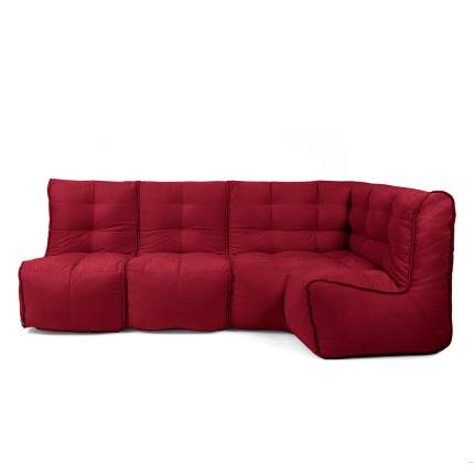 Бескаркасный модульный диван GoodPoof Мод L-II one size, велюр, Young Wine