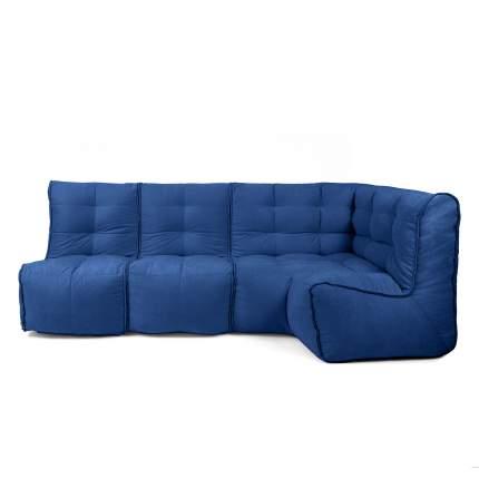 Бескаркасный модульный диван GoodPoof Мод L-II one size, велюр, Classic Denim