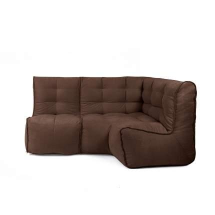 Бескаркасный модульный диван GoodPoof Мод L-I one size, велюр, Сhoco Shake