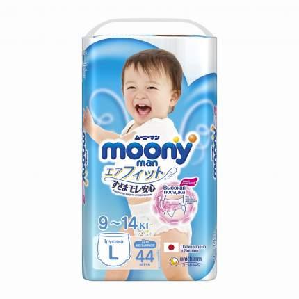 Подгузники-трусики для мальчиков Moony Man L (9-14 кг), 44 шт.