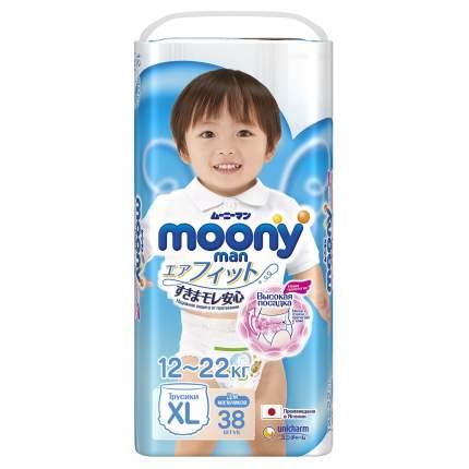 Подгузники-трусики для мальчиков Moony Man XL (12-22 кг), 38 шт.