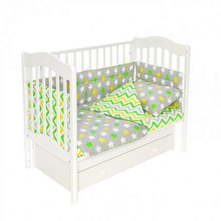 Бортики для детской кроватки Magic City БК-ПП-019/45 Серое созвездие