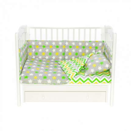 Бортик в кроватку новорожденного Magic City БК-ПП-019/30 Серое созвездие