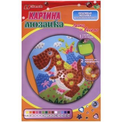 Объёмная мозаика из EVA Артэ Нуэво Коричневый динозавр