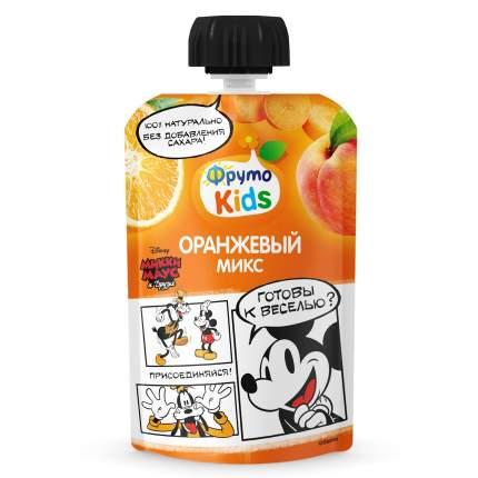 ФрутоKids Пюре Оранжевый микс (яблоко-персик-морковь-апельсин), 6м+, 90 г