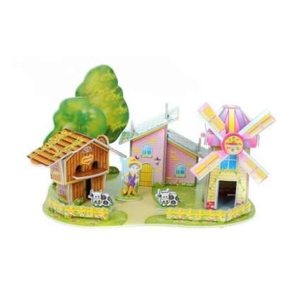 Картонный 3D-мини-пазл Zilipoo Дом мельница (22 детали)