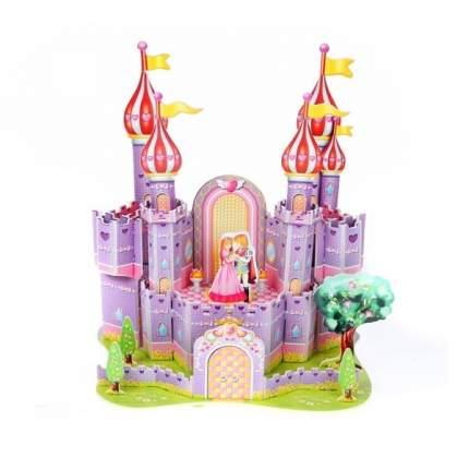 Картонный 3D-мини-пазл Zilipoo Фиолетовый замок (34 детали)