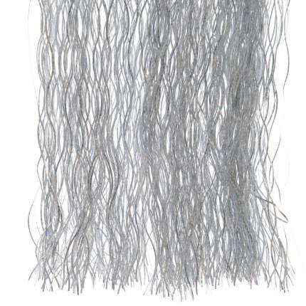 Дождик новогодний Kaemingk 434475 50 х 40 см серебристый