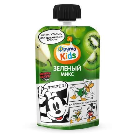 ФрутоKids Пюре Зеленый микс (яблоко-груша- виноград-киви), 9м+, 90 г
