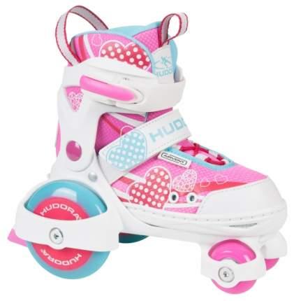 Ролики HUDORA My First Quad Girl pink разм. 30-33 розовые