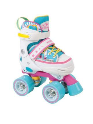 Ролики HUDORA Skate Wonders разм. 32-35 розово-голубые