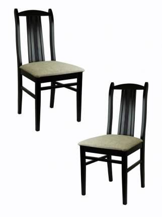 Комплект стульев (2 шт.), СтолБери, Веста, деревянный, венге, рогожка аура, жёсткая спинка