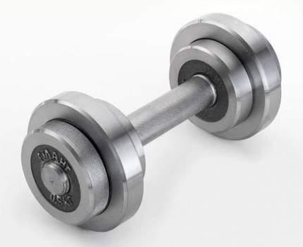 Гантель разборная с галтованными дисками  5кг (металл)